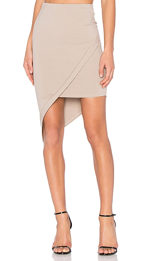 Donna Mizani Asymmetrical Skirt in Beige