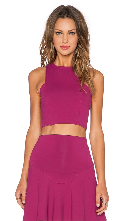 Donna Mizani Frontal Panel Crop Top in Berry