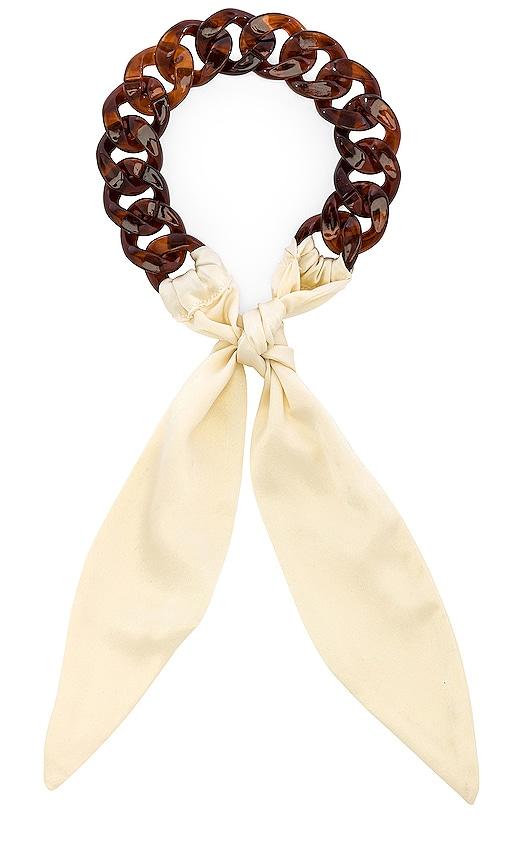 Tortoise Silk Tie Headband