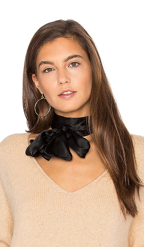 DONNI CHARM Soiree Scarf in Black