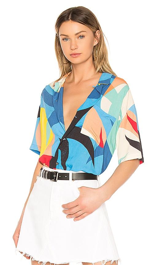 DOUBLE RAINBOUU Hawaiian Shirt in Blue
