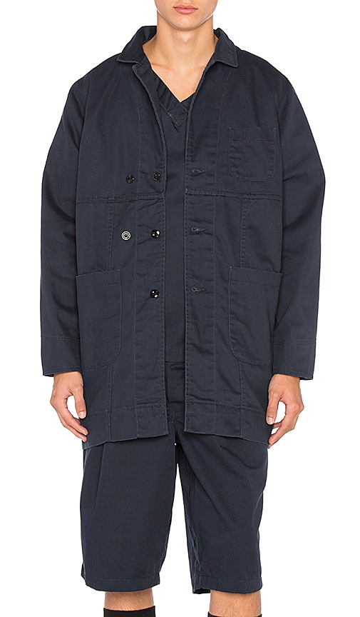 Dickies x Palmer Trading Company Long Shop Coat in Blue