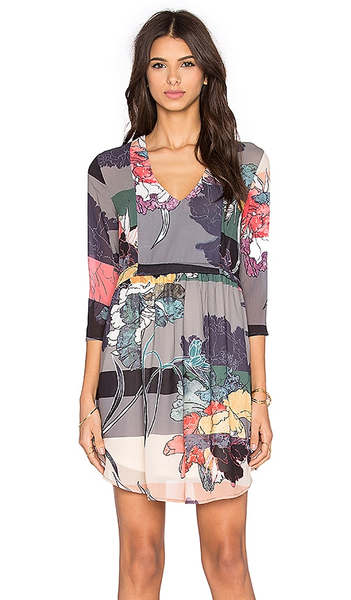 d.RA Allen Dress in Watercolor Floral