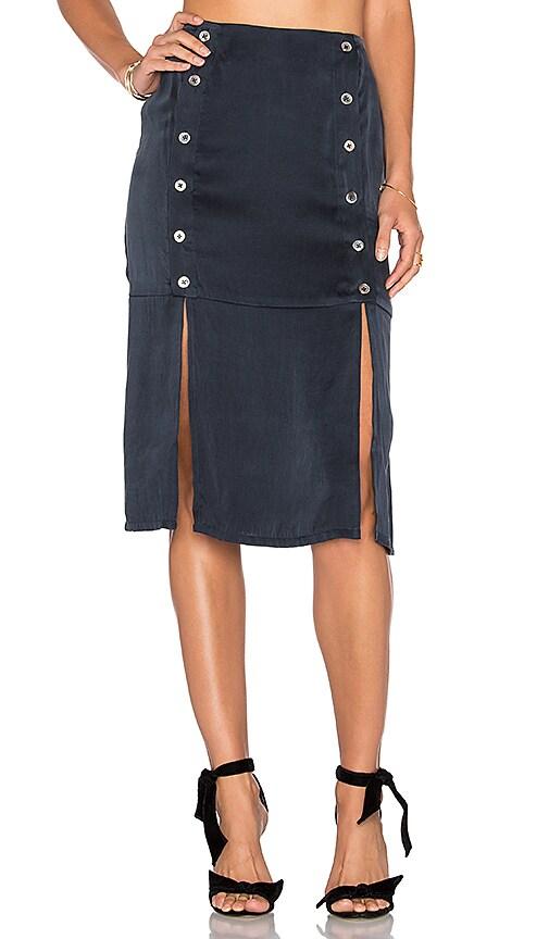 DREAM Kylie Midi Skirt in Navy