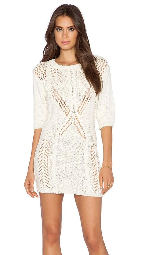 Dress Gallery Summer Sweater Dress in Ecru