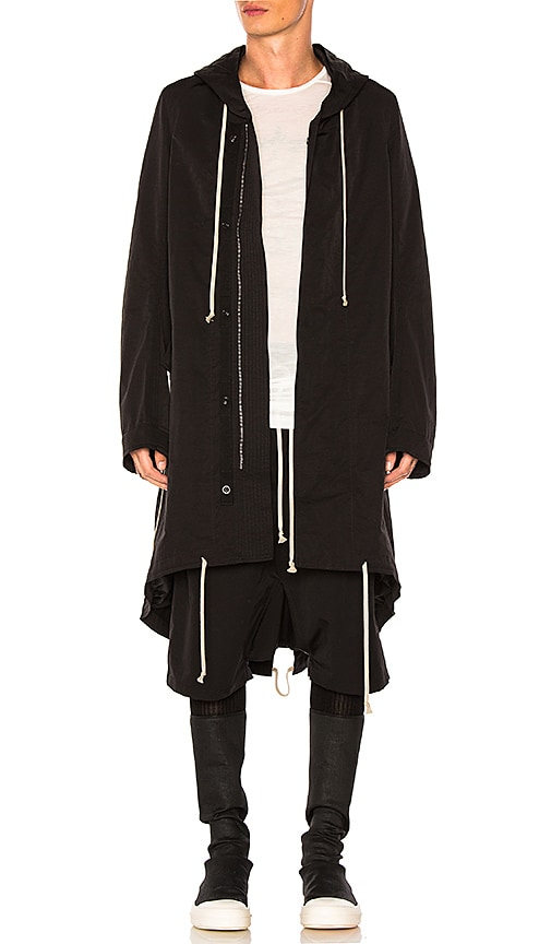DRKSHDW by Rick Owens Fishtail Parka in Black