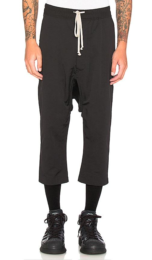 DRKSHDW by Rick Owens Cropped Sweatpant in Black