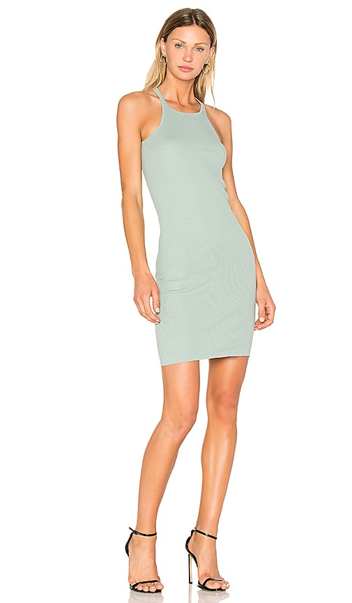 DRKSHDW by Rick Owens Rib Tank Tunic Mini Dress in Mint