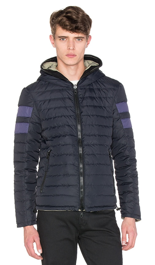 Duvetica Lebrindal Reversible Jacket in Blue Navy