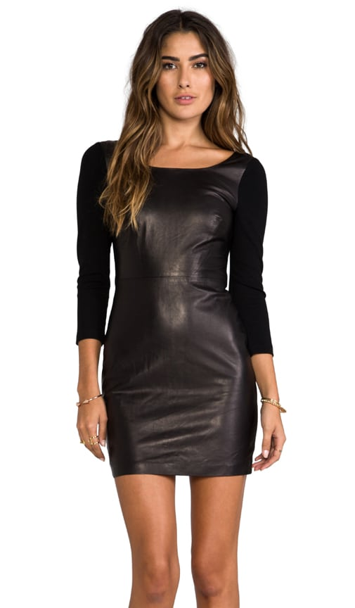 Zarita Scoop Leather Dress