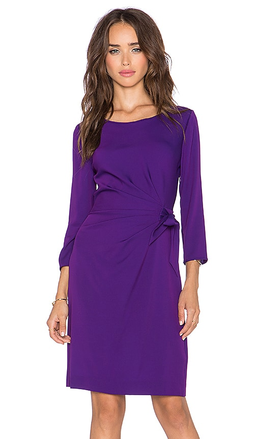 Diane von Furstenberg Zoe Silk Faux Wrap Dress in Royal Purple