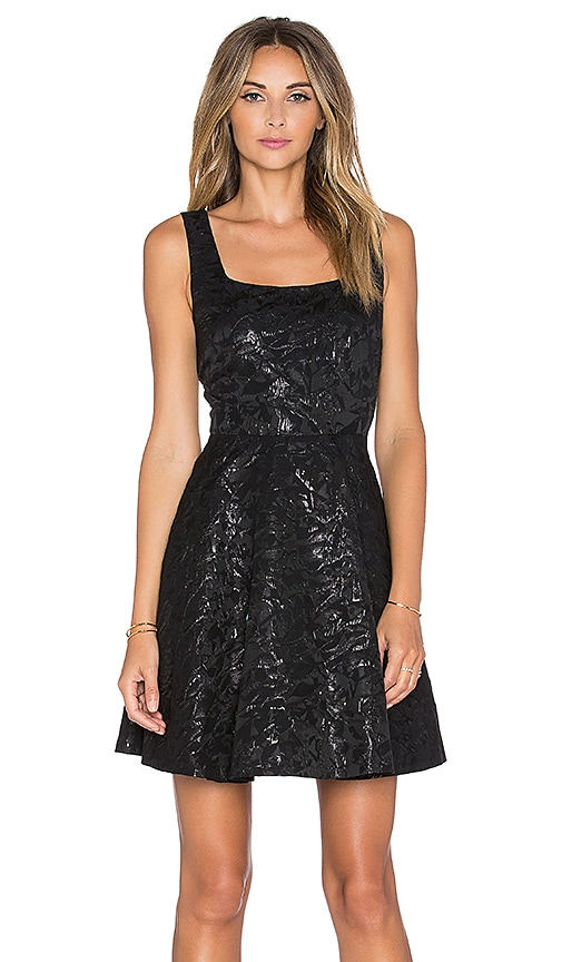 Diane von Furstenberg Minnie Dress in Black & Black