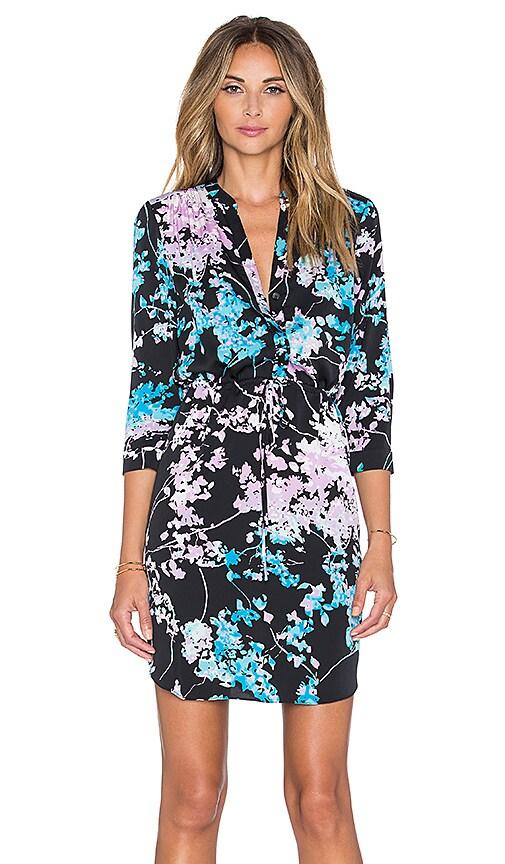 Diane von Furstenberg Freya Dress in Floral Daze Sky Mauve