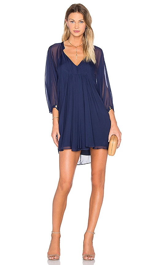 a8acb8ea93af Diane von Furstenberg Fleurette Dress in Midnight | REVOLVE