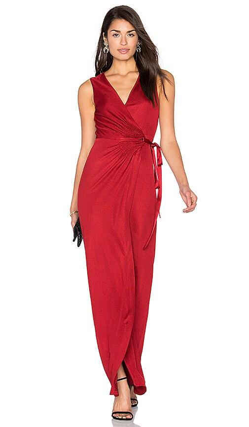 Diane von Furstenberg Taley Gown in Garnet | REVOLVE