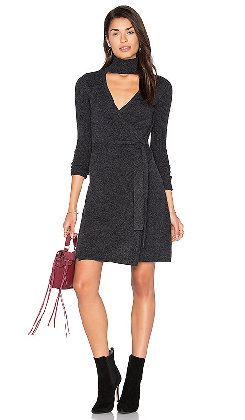 Diane von Furstenberg Janeva Wrap Dress in Charcoal