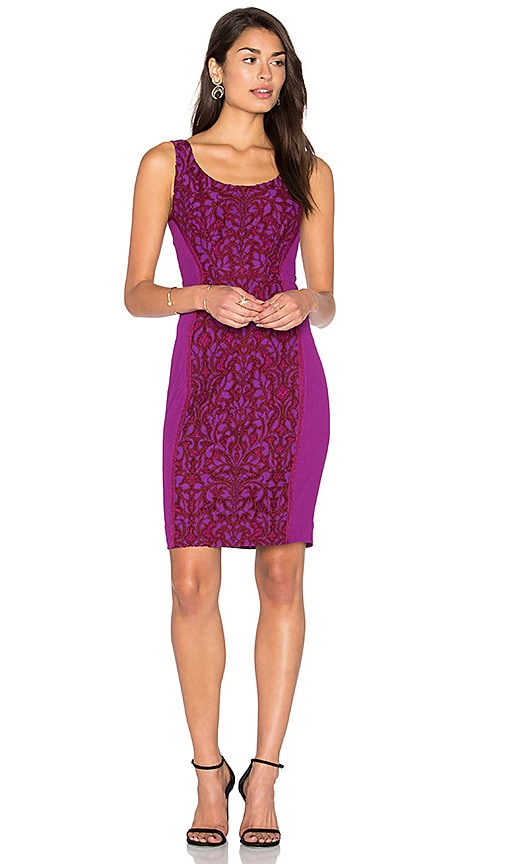 Diane von Furstenberg Geovanna Lace Dress in Purple