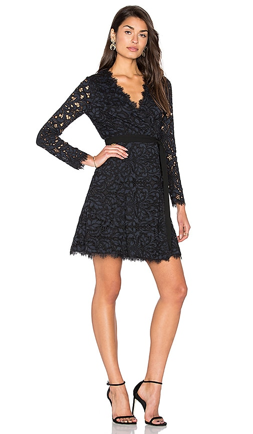Diane von Furstenberg Shaelyn Wrap Dress in Navy