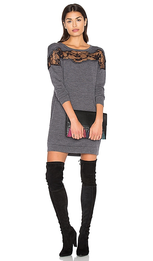 Diane von Furstenberg Hayli Dress in Charcoal