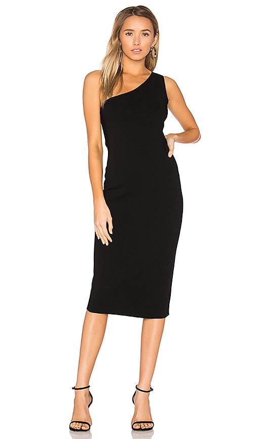 Diane von Furstenberg One Shoulder Dress in Black