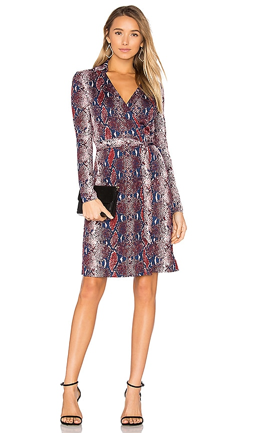 Diane von Furstenberg Jeannae Wrap Dress in Blue