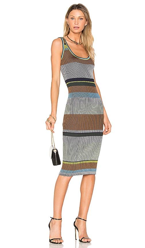 Diane von Furstenberg Knit Midi Dress in Gray