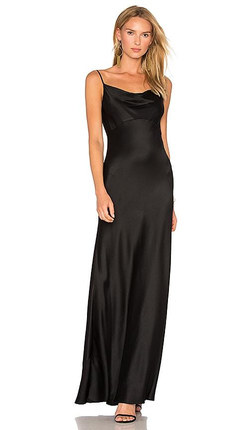 Diane von Furstenberg Cowl Gown in Black   REVOLVE