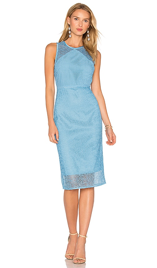Diane von Furstenberg Lace Dress in Blue
