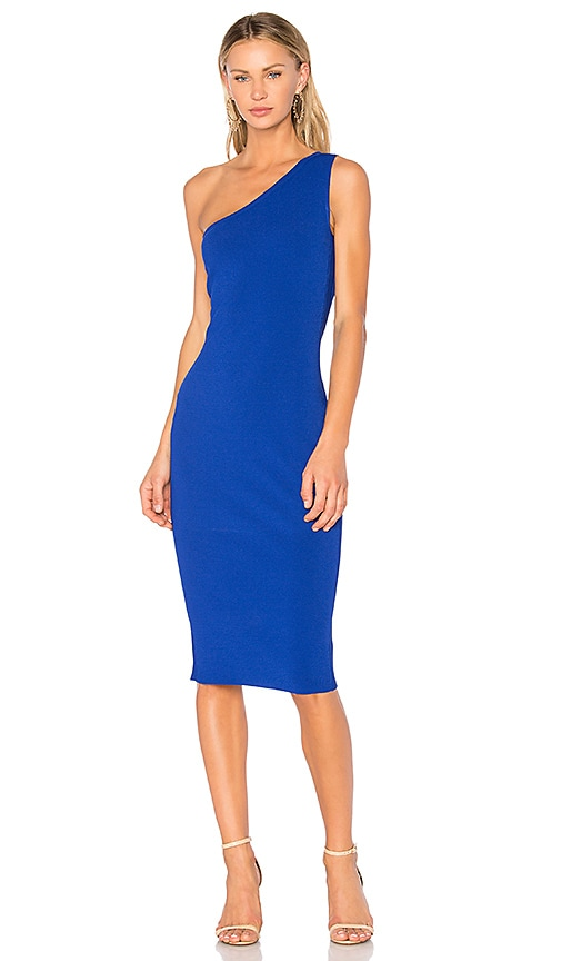 Diane von Furstenberg One Shoulder Dress in Royal Blue