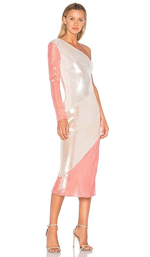 Diane von Furstenberg Bias Midi Dress in Ivory