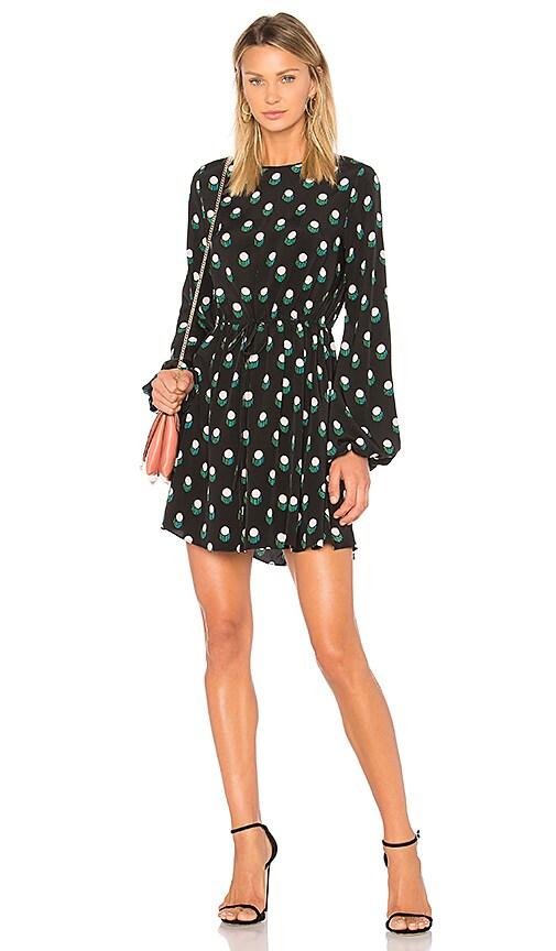 Diane von Furstenberg Tied Mini Dress in Black