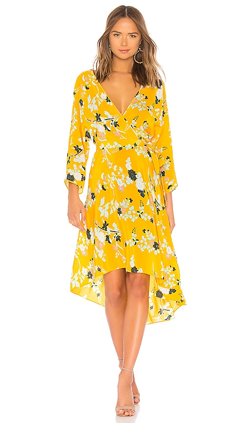 Diane von Furstenberg Asymmetrical Hem Dress in Yellow