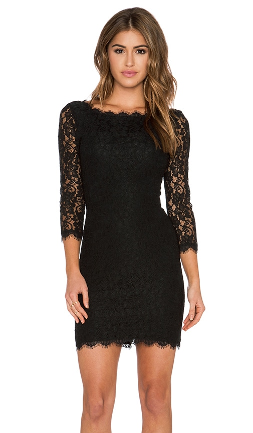 Diane von Furstenberg Zarita Dress in Black