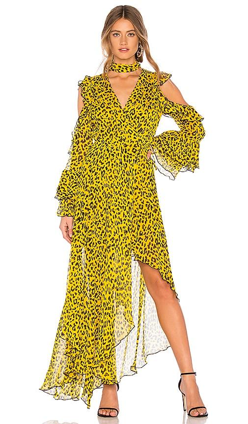 Ruffle High Low Maxi Dress