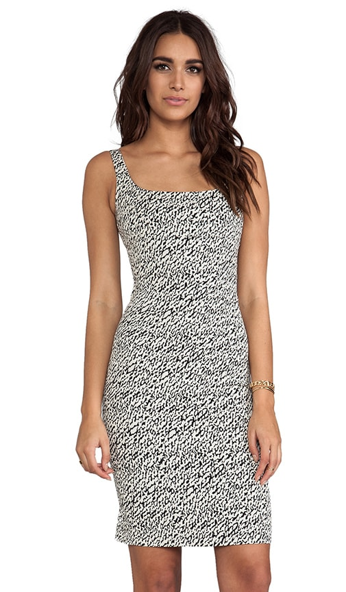 Bridget Snake Wave Jacquard Dress