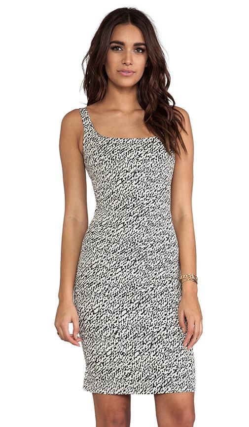 Bridget Snake Wave Jacquard Dress