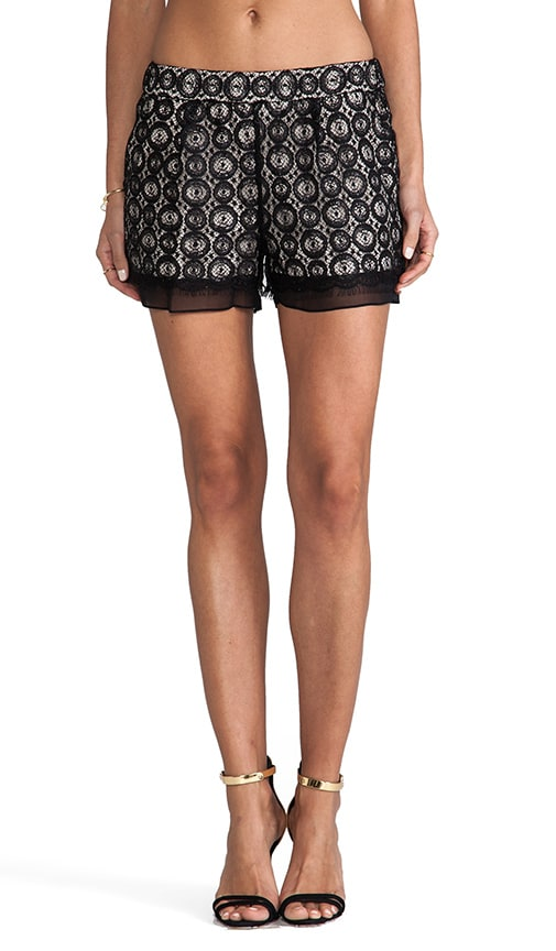 Ginger Metallic Circle Lace Shorts