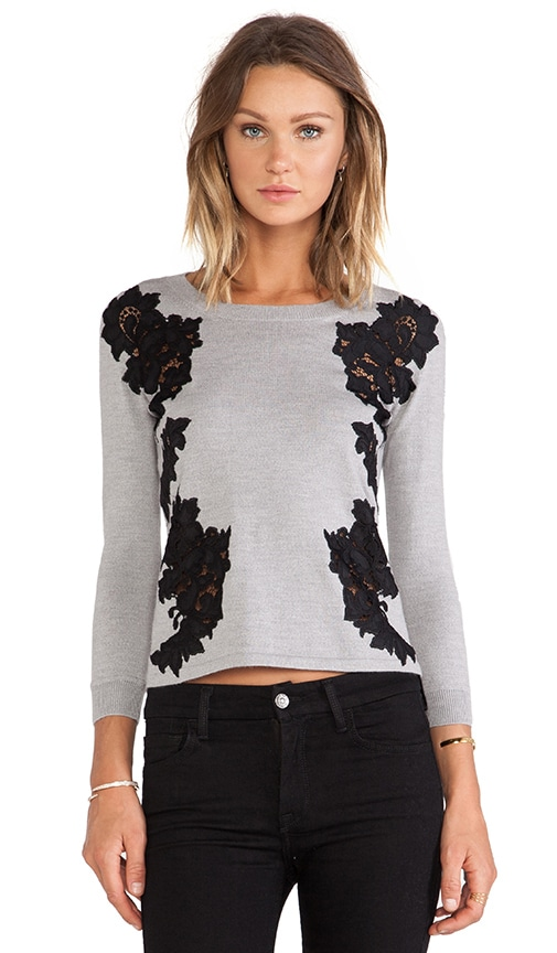 Doreen Floral Applique Pullover
