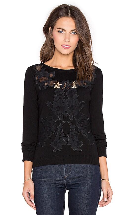 Diane von Furstenberg Shana Lace Sweater in Black