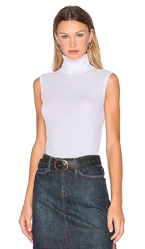 Diane von Furstenberg Sutton Sleeveless Sweater in White