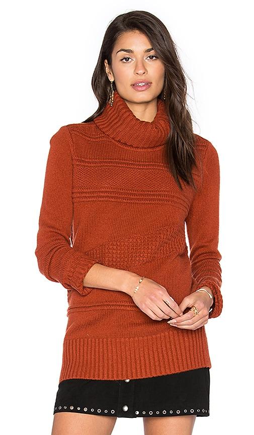 Diane von Furstenberg Talassa Turtleneck Sweater in Brick