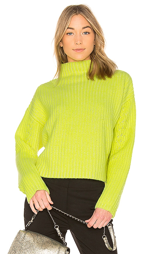 Diane von Furstenberg Chunky Ribbed Pullover in Yellow