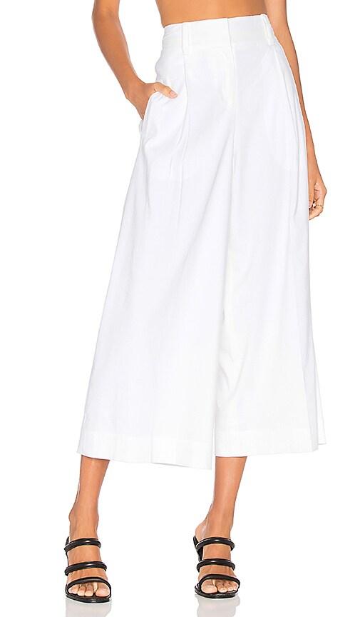 Diane von Furstenberg High Waist Culotte in White