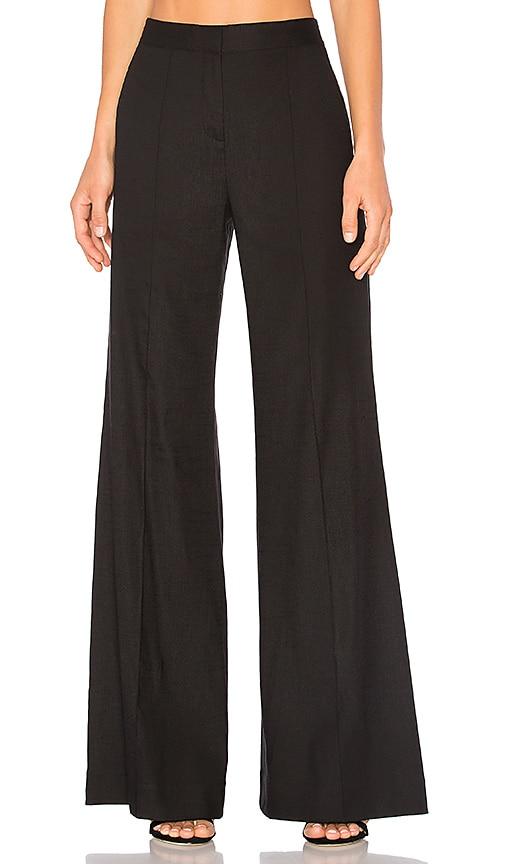Diane von Furstenberg Pleat Flare Pant in Black