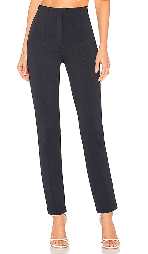 Diane von Furstenberg High Waisted Skinny Pant in Navy
