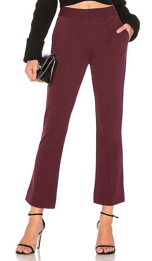 Mid Rise Cropped Bootcut Pant