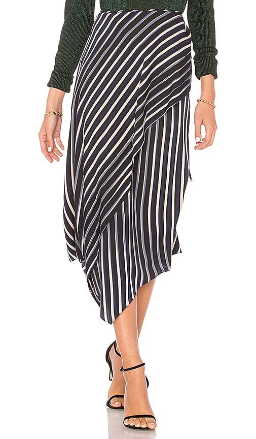 74d1d9fba5 Diane von Furstenberg Draped Asymmetrical Midi Skirt in Whiston ...