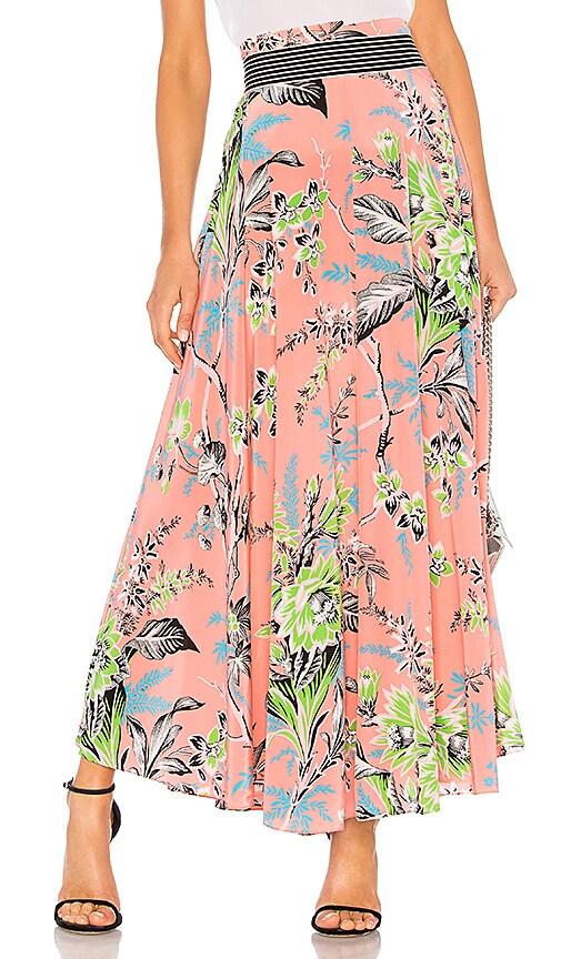 ba0349d93 Diane von Furstenberg Draped Maxi Skirt in Avalon Hyacinth | REVOLVE
