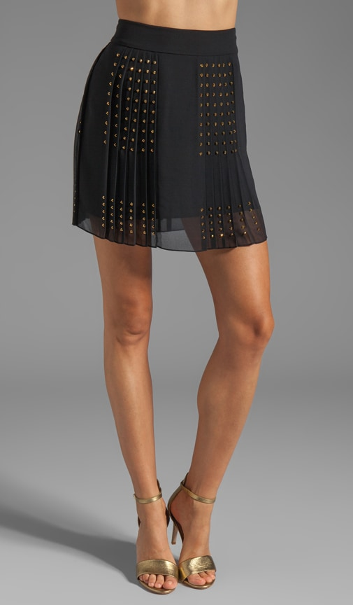 Arielle Hot Fix Check Skirt