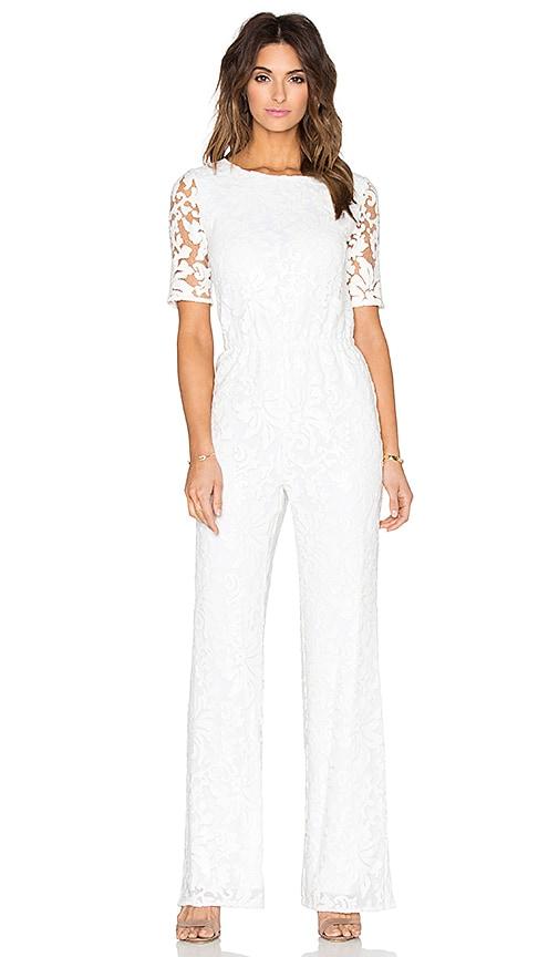8c8ebe2a7fcf Diane von Furstenberg Kendra Lace Jumpsuit in White